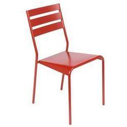 Krzesło do kawiarni, restauracji i ogrodu Fermob Facto czerwone, kup u jednego z partnerów