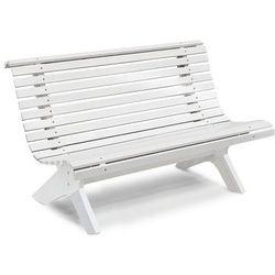 Biała ławka parkowa S1390xW770xG430mm