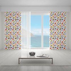 Zasłona okienna na wymiar - COLORFUL BUTTERFLIES II