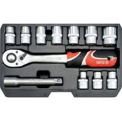Zestaw kluczy nasadowych YATO YT-38671 1/2 cala (12 elementów)