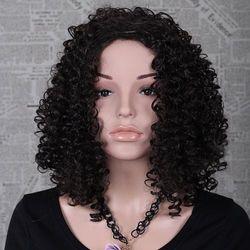 Sammydress Medium length kinky curly afro wig