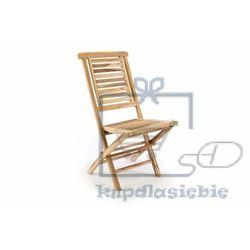 Krzesło ogrodowe DIVERO drewniane składane (4025327050442)
