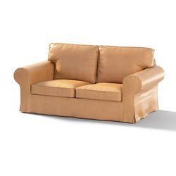Dekoria Pokrowiec na sofę Ektorp 2-osobową, nierozkładaną, beżowo-miodowy (eko-skóra), Sofa Ektorp 2-osobowa, Eco-leather