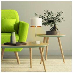 Nowoczesna lampka na stolik do salonu nicea gold marki Lysne