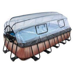 Basen z kopułą EXIT PREMIUM 540 x 250 x 100 cm /brązowe drewno/