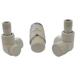 Instal-projekt Grzejnik  603700003 zestawy łazienkowe lux gz ½ x złączka 15x1 cu osiowo lewy biały