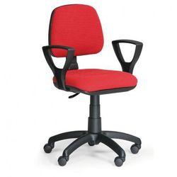 Biurowe krzesło MILANO z podłokietnikami - czerwone