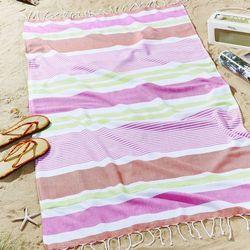 ręcznik plażowy funky stripe 80x150cm brights, 80x150cm marki Dekoria