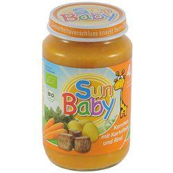4 mc marchew, ziemniak i wołowina bezglutenowe bio 190 g - sun baby wyprodukowany przez Sun baby (dla niemowl