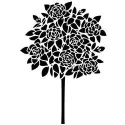 Szablon malarski, wielorazowy, wzór flora 242 - drzewo różane
