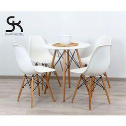 Sk design  zestaw - stół fi 80 + 4 krzesła kr012
