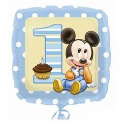 Balon foliowy na roczek Mały Mickey - 47 cm - 1 szt. z kategorii Gadżety