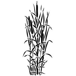 Szablon malarski, wielorazowy, wzór flora 240 - tatarak