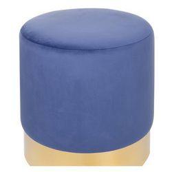 Puf welur ø 39 cm niebieski SOPHIA (4251682203555)