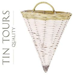 Tin tours sp.z o.o. Stożek wiklinowy na ścianę / kwietnik 28x20x36/43h cm