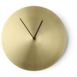 Zegar ścienny Norm Metal szczotkowany mosiądz, kolor Zegar