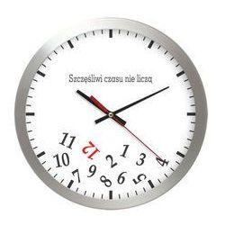 Zegar aluminiowy szczęśliwy czas marki Atrix