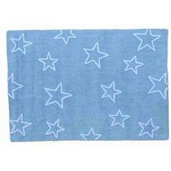 Dywan do prania w pralce gwiazdki niebieski od producenta Lorena canals