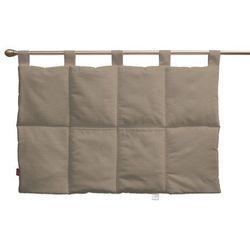 wezgłowie na szelkach, grey brown (szary brąz), 90 x 67 cm, cotton panama marki Dekoria
