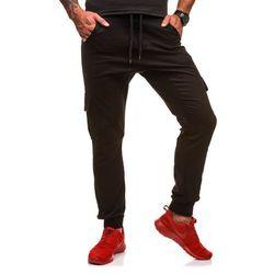 Spodnie męskie joggery ATHLETIC 0404GBR czarne - CZARNY, kolor czarny