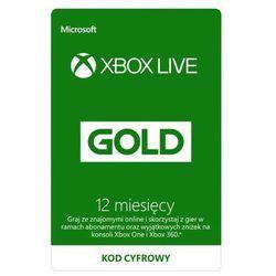 Subskrypcja Xbox Live Gold (12 m-cy) [kod aktywacyjny], kup u jednego z partnerów