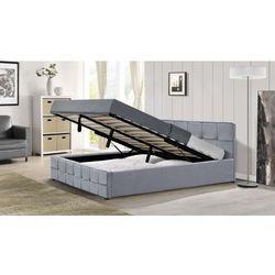 Łóżko tapicerowane do sypialni 140x200 1294g welur popiel marki Meblemwm