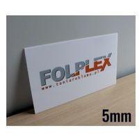 Druk uv na plexi mlecznej 5mm z materiałem marki Folplex
