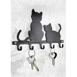 """Wieszak na klucze """"koty"""" czarny marki Bonprix"""