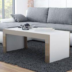Stolik kawowy tucson 120 - cappuccino   biały marki High glossy furniture