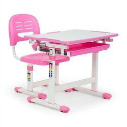 Oneconcept annika biurko dla dziecka z krzeslem rozowy (4260509680004)
