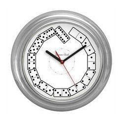 Zegar ścienny chrom Domino