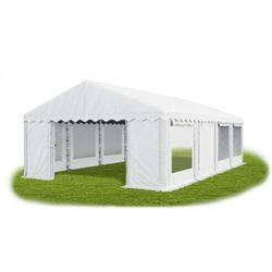 6x8x2m całoroczny namiot cateringowy, okna z moskitierą rolowane do góry mocna konstrukcja winter/pe 48m2 marki Das company