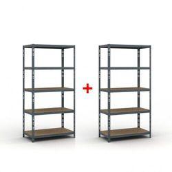 Regał półkowy 1800 x 900 x 500 mm, nośność 175 kg 1+1 gratis marki B2b partner