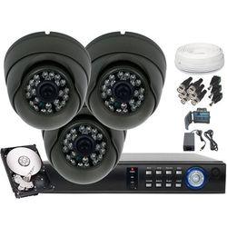 Zestaw do monitoringu 3x Kamera 900TVL z IR do 25m Dysk 500GB, kup u jednego z partnerów