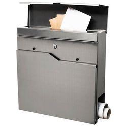 Springos Skrzynka na listy pocztowa 37x37x10,5cm nowoczesna z gazetnikiem stal nierdzewna (5907719403892)