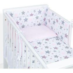 Mamo-tato 3-el dwustronna pościel dla niemowląt 100x135 starmix różowy / koordynat róż