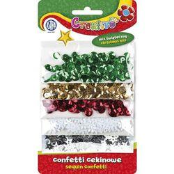 Astra, Confetti cekinowe, kółka na blistrze, mix 5 wzorów świątecznych, 1000 szt.
