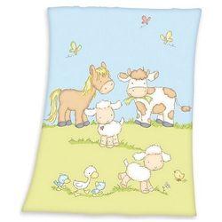koc dziecięcy fynn farma, 75 x 100 cm marki Herding