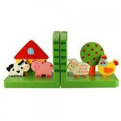 Bigjigs toys Podpórka pod książki dla dzieci - farma