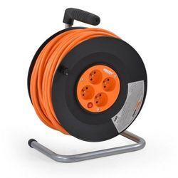 Hecht 450153 przedłużacz kabel sieciowy na bębnie nawijany 3x1.5mm2 230v 50 metrów 4 gniazda ewimax marki Hecht czechy