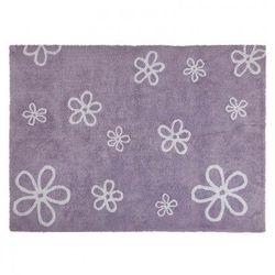 Dywan do prania w pralce flores malva/purple wyprodukowany przez Lorena canals