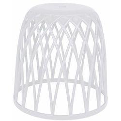 Wenko Stołek do łazienki, kosz na pranie, ręczniki, produkt 2w1, tworzywo sztuczne, dekoracja łazienki, nowoczesna forma, kolor biały (4008838231678)