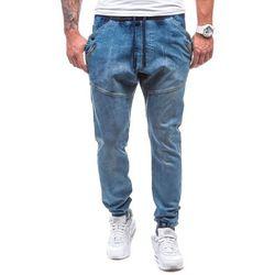 Spodnie męskie joggery ATHLETIC 0425K granatowo-szary - GRANATOWO-SZARY, kolor szary