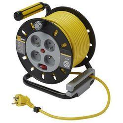 Przedłużacz bębnowy Diall 4 x 16 A 3 x 1,5 mm2 25 m, OMF25164SL/OWHB