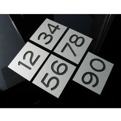 Numer Numery Cyfra Grawer na Drzwi z aluminium B2 z kategorii akcesoria do drzwi