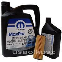 Olej MOPAR 5W30 oraz oryginalny filtr Dodge Challenger 3,6 V6 -2013 - sprawdź w wybranym sklepie