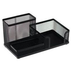 Przybornik na biurko siatka czarny DELI, 009150