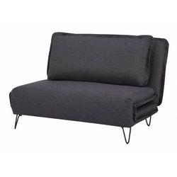Sofa 2-osobowa loof z tkaniny, rozkładana – kolor antracytowy marki Vente-unique