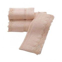Luksusowy ręcznik kąpielowy VICTORIA 85x150cm proszkowa