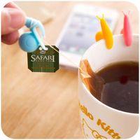 Ślimaki - 6 szt. zawieszki na woreczek do herbaty i marker do drinków marki Gadget master